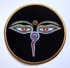 Black Kali Hindu Hinduism Goddess Symbol Embroidered Iron on Patch Free Postage