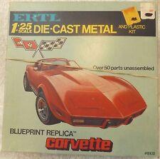 VINTAGE MODELS--ERTL 78 CORVETTE 1/25 SCALE MODEL KIT--METAL DIE-CAST--COMPLETE
