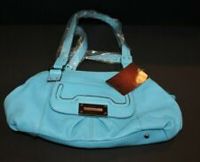 TIGNANELLO ROBINS EGG BLUE LEATHER SATCHEL TOTE PURSE & ZIP POUCH NEW W/ TAGS