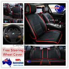 Red Trim Universal PU Leather Car Seat Covers Holden Colorado Cruze Captiva
