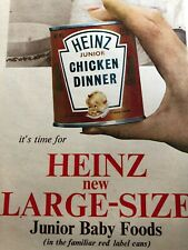 1963 Heinz Baby Food Large Size Ad from Aust Women's Weekly