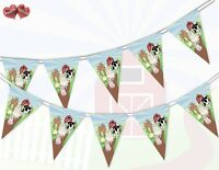 Farmyard Themed Bunting Banner 15 flags Animals Group by Party Decor