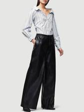New $995 FRAME DENIM Voluminous Leather Track Pants Size Small