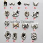 Lot 10/50 Pcs 3D Clear Alloy Rhinestone Bow Tie Nail Art Slices Diy Decorations