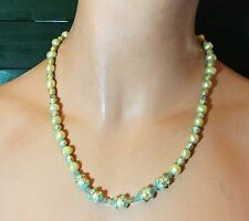 HANDCRAFTED  Freshwater Pearls & Enamel beads Necklace