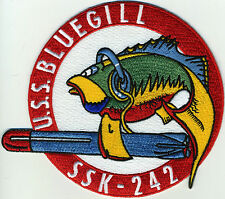 USS Bluegill SSK-242- 5 inch FE BC Patch Cat No C6329