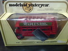 "Matchbox Models of Yesteryear A.E.C. ""S-type"" Omnibus 1922 Y-23 rood ""Maples"""