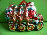Christopher Radko Santa Tandem Glass Ornament