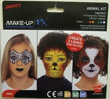 Smiffys FX FANCY DRESS MAKE UP face paint 8 COLS Kids animali KIT NUOVO IN CONFEZIONE