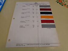 1948-1950 REO Commercial ACME Color Chip Paint Sample