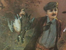 STEVENS / SAVAGE ARMS - Hunter Going Back Home With 2 Birds -OLD SIGN Dated1993