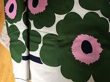 Marimekko 2 yards Big Unikko fabric cotton, Finland, green pink