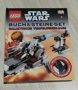"""Lego Star Wars Buch & Steine Set """"Galaktische Verfolgungsjagd"""" mit Fehlteilen"""