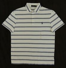 Men Polo Ralph Lauren Pony Soft Touch Short Sleeves Classic Striped Golf Shirt M