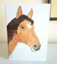 Horse greeting card, equestrian, horse rider