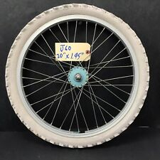 """Complete 20"""" Bicycle Front Alloy Wheel with 1.95"""" White Tire Kids Bmx Bike #j60"""