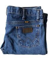 Wrangler Slim Fit MWZ Denim Jeans 36 Western Blue Medium Wash Cowboy Cut