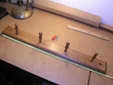 Wood Wall Mount 4-Peg Coat Rack for Coats, Leashes, Hats, Robes, Towels,
