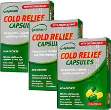 Galpharm Cold Relief Capsules 16 Pack X3 TRIPLE PACK- Non Drowsy,Aches & Pains