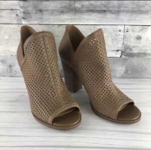 Womens Lucky Brand Livey Open Toe Caged Bootie - Nude EUC Size 6