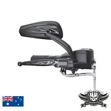 Black Rearview Mirror Harley sportster softail dyna electra glide XL CVO fat bob