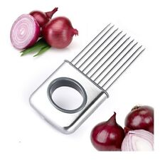 Stainless Steel Fork Onion Vegetable Potato Cutter Slicer Cutting Safety Chopper