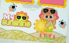 Elite4U Premade Scrapbook Page Paper Piecing My Sunshine Girl BLJgraves 71