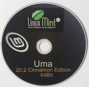 Linux Mint Uma 20.2 Complete Operating System and Software on DVD +  CD Manual