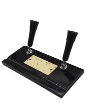 More details for wonderful genuine art deco vintage cast iron pen/fountain pen desk heavy stand