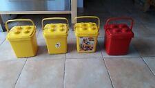 Lot anciennes Boîtes de rangement brique LEGO / DUPLO  Jaune et rouge