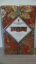 "NEW WATERFORD LINENS MACKENNA VALANCE 54""X18"" PAPRIKA DOUBLE SCALLOPED WINDOW"