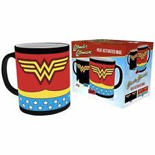 DC Comics Wonder Woman Logo Heat Activated Coffee Mug Tea Cup - Boxed