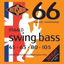 Rotosound RS66LD en acier inoxydable Swing bass guitar strings gauge 45-105