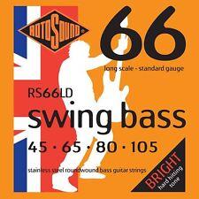 ROTOSOUND RS66LD IN ACCIAIO INOX Swing Bass guitar Strings Gauge 45-105
