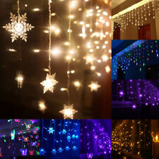 3.5M 96LED String Fairy Lights Curtain Xmas Garden Wedding Party In/Outdoor