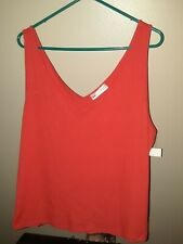 3X Love Crazy Orange Tank JR Nwt