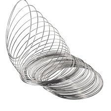 PD: 200 Reife Silberfarbe Spiraldraht für Armreifen 65mm