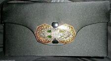 Vintage La Jeunesse Silk Handbag Ornate Jeweled Closure