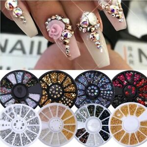 Nail Rhinestone Gold Silver Mixed Colorful Crystal  Studs  Beads 3D Decorations