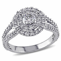 Amour 1 CT TW Halo Diamond Engagement Ring in 14k White Gold