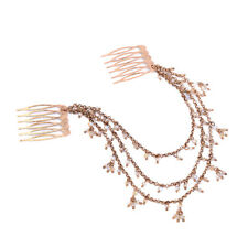 Epingle à Cheveux Pin Long Doré Floral Mini Perle Plusieurs Rang Retro Class FJ3