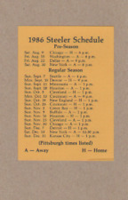 1986 NFL FOOTBALL PITTSBURGH STEELERS GAME POCKET SCHEDULE SAINT VINCENT COLLEGE