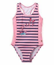 62a33f5b731 DESIGNER Juicy Couture Big Girls Pink & Navy Striped 1pc Tank Swimsuit ...