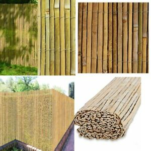 4M Slatted Bamboo Garden Screening Out door Privacy Fencing Roll Panel Wind/Sun