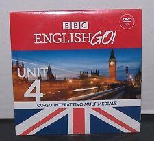 BBC ENGLISH GO - UNIT 4 - CORSO INTERATTIVO MULTIMEDIALE - SOLE24ORE DVD NUOVO