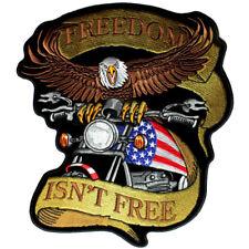 Patriotic Freedom Isn't Free Biker Patch FREE SHIP