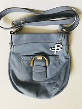 B. Makowsky Pebble Leather Convertible Crossbody Bag-Ocean Blue
