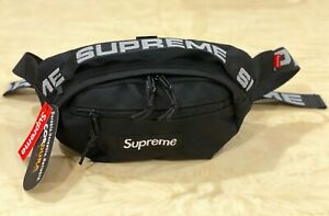 Brand New Supreme Black Waist Bag Shoulder Bag Fanny Pack  Unisex