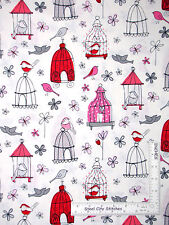 Bird Cage Fabric - Birds Bird Cages Butterflies C3879 Timeless Treasures - Yard