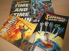 More details for a collection of 4 new superman graphic novels - all the covers are shown
